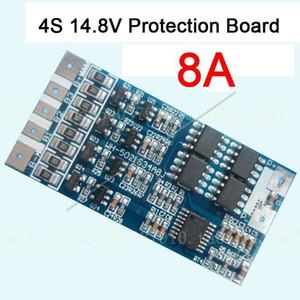 Freeshipping 4s cell 14.8V 8A w / Balance Li-ion Lithium 18650 Carga de la batería BMS PCB Protection Board