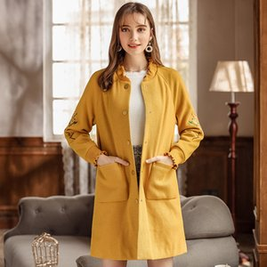 2018 Autumn And Winter Women Casual Sweater Jacket Fashion Women's Single-breasted Long Cardigan Ladies Outwear Coats