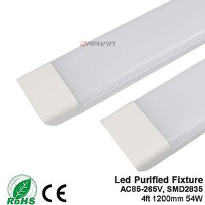 4FT LED 튜브 램프 광장 정화 튜브 빛 1200mm 54w 3 라인 led 밝은 밝은 AC85-265V