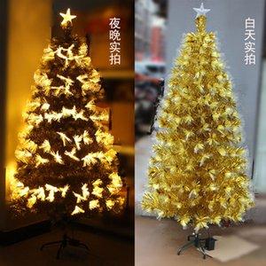 Новогодние елки праздничная вечеринка поставки Арбол де Навидад Альберо Натале kerstboom 180 см оптическое волокно свет Xmas дерево декор новый