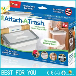 Novo Lixo Lixo Saco Anexar Titular / Sobre Armário Armário Porta Cozinha Banheiro anexar um lixo