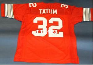 Uomini CUSTOM Ohio State Buckeyes # 32 JACK TATUM CUSTOM RED COLLEGE STYLE Jersey college taglia s-4XL o su misura qualsiasi nome o numero maglia