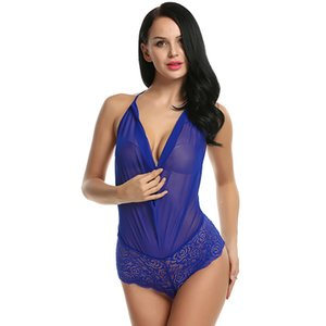 Nova Moda Uma Peça Lingerie Sexy Hot Teddies Erotic Bodysuit Mulheres Floral Lace Body Suit Plus Size Porno Traje Íntimos