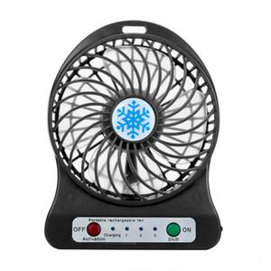 2018 Portable Mini USB Fan LED Licht Luftkühler Kleine Schreibtisch 18650 Batterie Lüfter für PC Laptop Lüfter ventilator usb