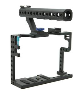 Panasonic Lumix GH5 Kamera Rig F20577 için Üst Kolu Kavrama ile DSLR Kamera Kafesi