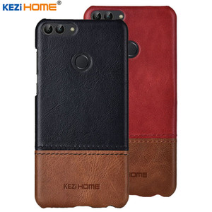 wholesale for Huawei P Smart KEZiHOME Luxury Hit Color Genuine Leather Hard Back Cover capa For Huawei Psmart   Enjoy 7s Phone cases