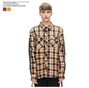 AW Xieruis Herbst Flanell Frauen Männer Plaid Shirts Hiphop Justin Bieber Streetwear Männer Baumwolle Langarmshirts