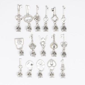 Styles mixtes CLÉS argent tibétain BIG HOLE Perles européennes Fit pour Bijoux Charms Faire bricolage main