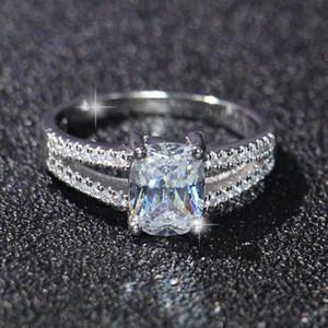 패션 보석 럭셔리 영원한 2ct 토 파 즈 CZ 10KT 골드 채워진 된 GF 시뮬레이션 된 다이아몬드 웨딩 약혼 반지 Sz 5-11 도매업