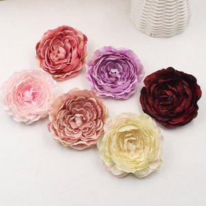 20pcs 9 cm Cabeza de flor artificial de seda artificial del Peony del partido del jardín decoración de la boda Suministros de simulación falso Flores