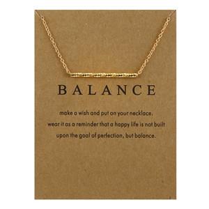 Bestseller NESSUN LOGO Dogeared Nuovo equilibrio di legno color oro Straight Bar lega clavicola serpente corta collana corta per le donne