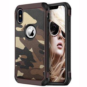 Nuevo Caes para iPhoneX Funda de silicona de camuflaje con caída de 6.1 pulgadas para iPhone XS Plus 6.5 Inchv