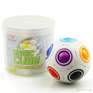 레인보우 볼 매직 큐브 속도 축구 재미 크리 에이 티브 구형 퍼즐 아이들을위한 교육 학습 장난감 게임 성인 선물.