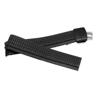 Kaliteli silikon watchbands Aquanaut serisi Için 21mm siyah kauçuk kayış 5164a5167a-001