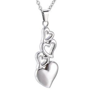 Lo nuevo llega a 4 corazón juntos conmemorativo joyería Personlized encanto Ash Keepsake colgante collar para amigo familiar mascota