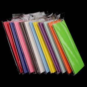 19.7cm jetables thé à bulles épaisses arc-en-ciel pailles en papier pour bar anniversaire fournitures de fête de mariage LX3462