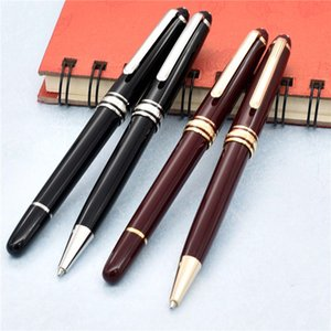 caneta de luxo da marca MB 163 resina canetas Masterpiece Burgundy Rollerball Pen, caneta esferográfica / canetas com presente número