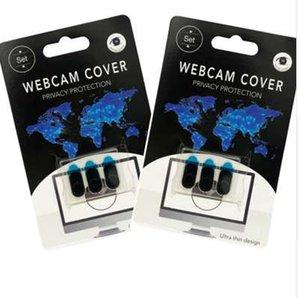 3 PCS / set Cubierta Webcam fuerte adherente para el teléfono móvil del ordenador portátil cámara ultra-delgado de privacidad obturador universal Webcam F1
