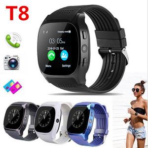 T8 블루투스 스마트 보수계 시계 카메라 동기화 전화 메시지 남자 여성 Smartwatch 시계와 SIM TF 카드를 지원
