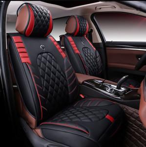 Conjunto de cobertura de asiento de ajuste universal para cinco asientos de automóvil sedán. Diseño envolvente completo Durable impermeable PU Asientos de cuero de PU conjuntos para SUV