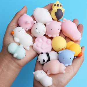 10 children's decompression toys, cartoon mini cute animals, mother and baby toys, baby vent toys