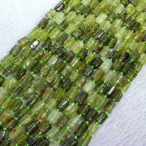 Doğal Hakiki Yeşil Garnet Tsavorite Demantoid Nugget Serbest Form Gevşek Pürüzsüz Boncuk 6-8mm 05387