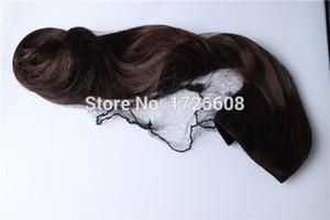 Venta al por mayor Invisible Hair Nets Gorro de nylon para extensiones de cabello / bollos / colas de caballo / flecos / flequillo negro / blanco redecillas