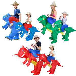 티라노 사우루스 렉스 코스튬 Dinosaur Jumpsuit 아이들을위한 공룡 의상 할로윈 의상 재미 있은 동물의 코스프레 80-120cm 어린이들