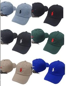 2018 popular raro polos cap Marca Centenas de Rose Strap Back Cap homens mulheres osso Ajustável 6 painel de golfe polo snapback bonés de beisebol casquette