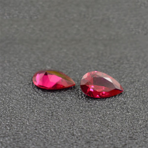 Oval Cut Ruby Color Red Corundum Stone 9 Tamaños Cubic Zirconia Synthetic Red Corindón Loose Gemstone Perlas Para La Fabricación de Joyas 200 unids / lote