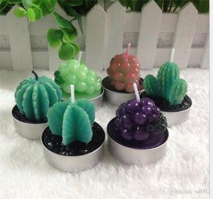 Mode Sukkulenten Flammenlose Kerze Topfpflanze Künstliche Kaktus Kerze Duftenden Weihnachtsschmuck Party Supplies New 1 3yh ZZ