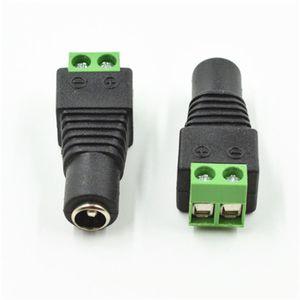 Fonte de alimentação fêmea da câmara de vigilância do adaptador da CC da tomada do poder da CC de 2,1 x de 5.5mm para a câmera do IP do CCTV