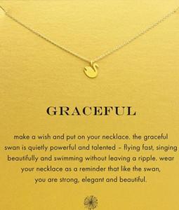 Dogear Halskette mit Schwan Anhänger (Graceful), Gold und Silber Farbe, edel und zart, kein verblassen, kostenloser Versand und hohe Qualität.