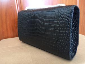 Bolso popular de la marca de fábrica del cuero auténtico del cocodrilo para el envío libre vendedor caliente de la señora