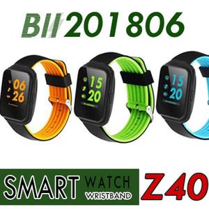 Yeni Torntisc Z40 Bluetooth Akıllı Izle Kan Basıncı Monitörü Nabız Smartwatch erkekler Çağrı Mesaj Hatırlatma Giyilebilir cihazlar izle DHL