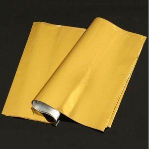 Kicute 50 Blatt A4 Gold Heißprägefolie Papier Laminator Laminieren Transfer Laserdrucker Visitenkarte Kalender 295 x 195mm