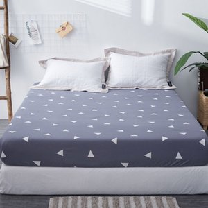 1pc 100%Polyester Fied Sheet Maress Cover Printing Bedding Linens Bed Sheets With Elastic Band