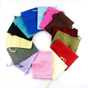 أكياس القماش مختلط الألوان لصالح الكتان حقيبة صغيرة الرباط هدية حقيبة الزفاف سحر أكياس تغليف المجوهرات