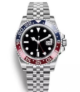 2018 최신 뉴 모델 고급 남성용 시계 바젤 레드 블루 펩시 GMT 시계 자동 주빌리 시계 Relojes Humme Orologio Date Chrono