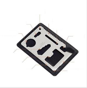 Mini aço inoxidável multi bolso Credit Ferramenta de cartão portátil Cartão da carteira Outdoor Survival Camping Ferramentas faca Ar Livre Ferramentas engrenagem EDC