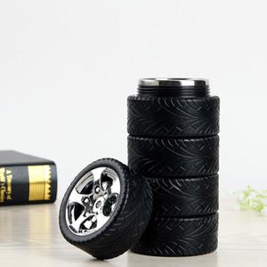 300ML 타이어 자동차 머그잔 물병 스테인레스 스틸 크리 에이 티브 커피 티 컵 여행 야외 맞춤 머그컵 물병 무료 DHL