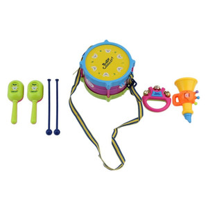 5 PCS Unisex Boy Girl Drum Musical Instruments Band Kit Kids Toy Gift Set 2018 New Arrival High Quality