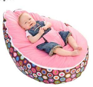 Sacchetto nuovo modo bambino fagiolo sedia del bambino della base di sonno con imbracatura portatili Multicolor bambini divani Filler non incluso