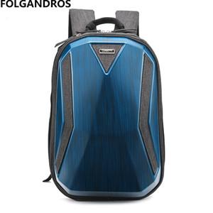 2018 하드 쉘 컴퓨터 가방 남성 백팩 패션 높은 표준 다목적 팟쿠 방수 클래식 오토바이 가방