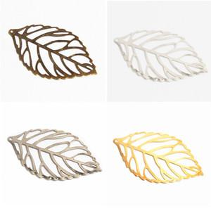 50Pcs Cueillir les feuilles Couleur Filigrane Wraps Connecteurs Crafts Métal Connecteur pour les bijoux DIY Faire Accessoires Pendentif charme