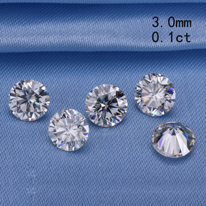 Сдать алмазный тестер 3.0 мм 0.1 карат круглый бриллиант огранки гр moissanites камнем для обручальных колец хорошая цена S923