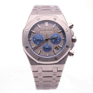 2019 Новые горячие продажи мужские часы серии 26331ST серебро из нержавеющей стали ремешок серый циферблат кварцевый хронограф Мужские спортивные наручные часы