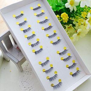 Novos 10 Pares de Maquiagem Beleza Mini Meio Canto Preto Cílios Postiços Naturais Falso Olho Cílios Cosméticos