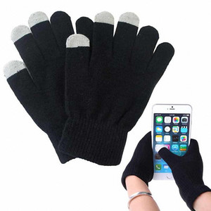 Зима Женщина Мужчина Мягкие теплые перчатки экрана Texting емкостного сенсорного смартфон для Iphone Samsung Xiaomi емкостного экрана