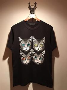 2018 Summer New Fashion brand Mens T Shirt Four kittens printing T Shirt Mens Clothing Short Sleeve Casual Mens Top Tee